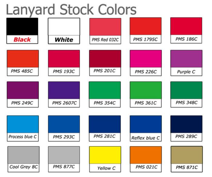 lanyard stock colors