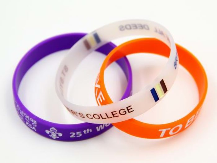 custom silicon wristband