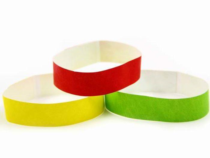 tyvek paper wristbands