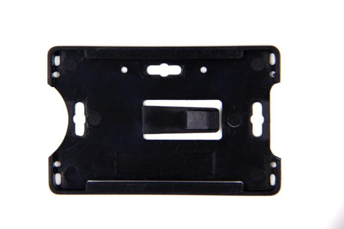 Open face rigid ID badge holder