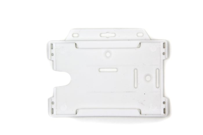 Open faced rigid card holder