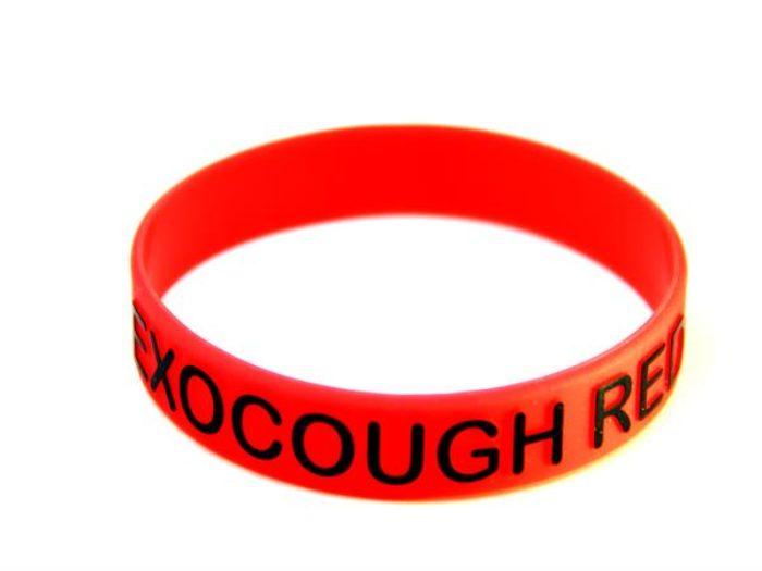 debossed printed wristband
