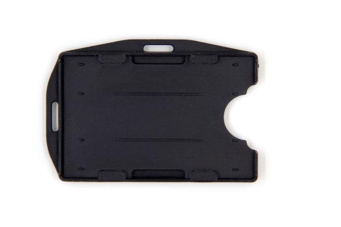 Open faced rigid ID badge holder