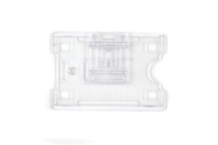 Open face rigid card holders