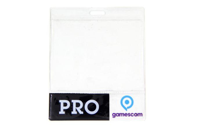 Spot printed ID badge holder