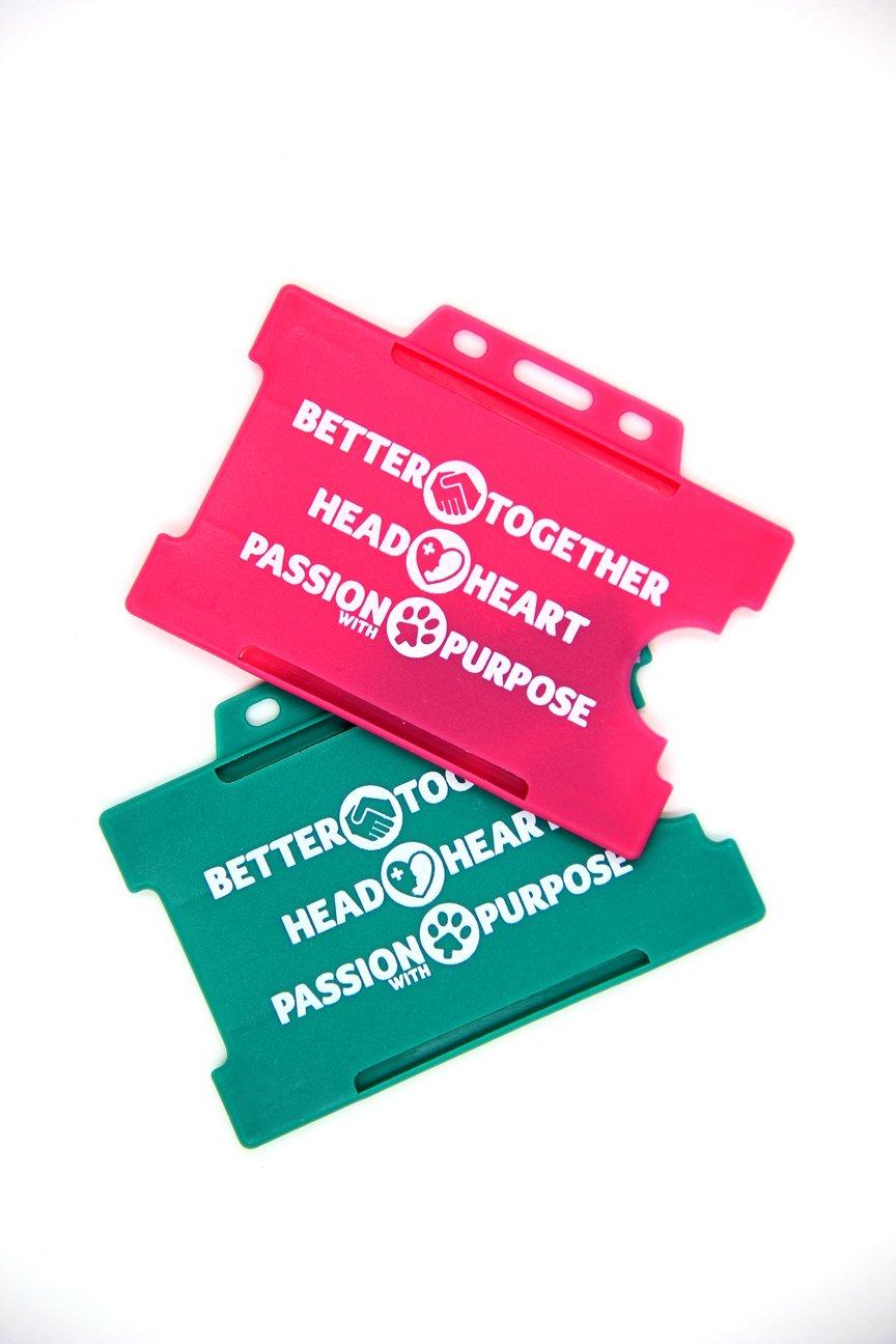 printed rigid card holder